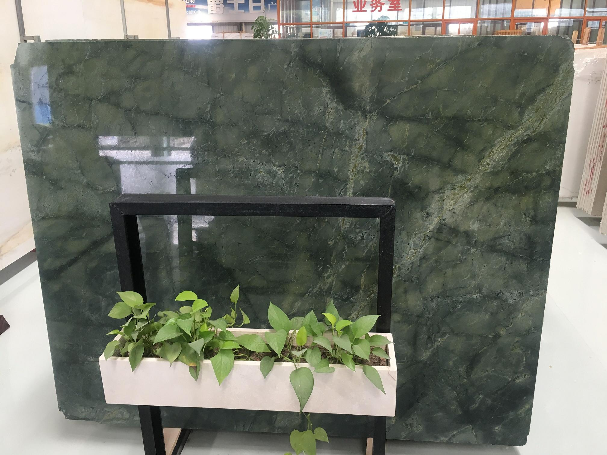 Peacock Dream Green Marble Slabs&Tiles For WallRoom Covering Tiles