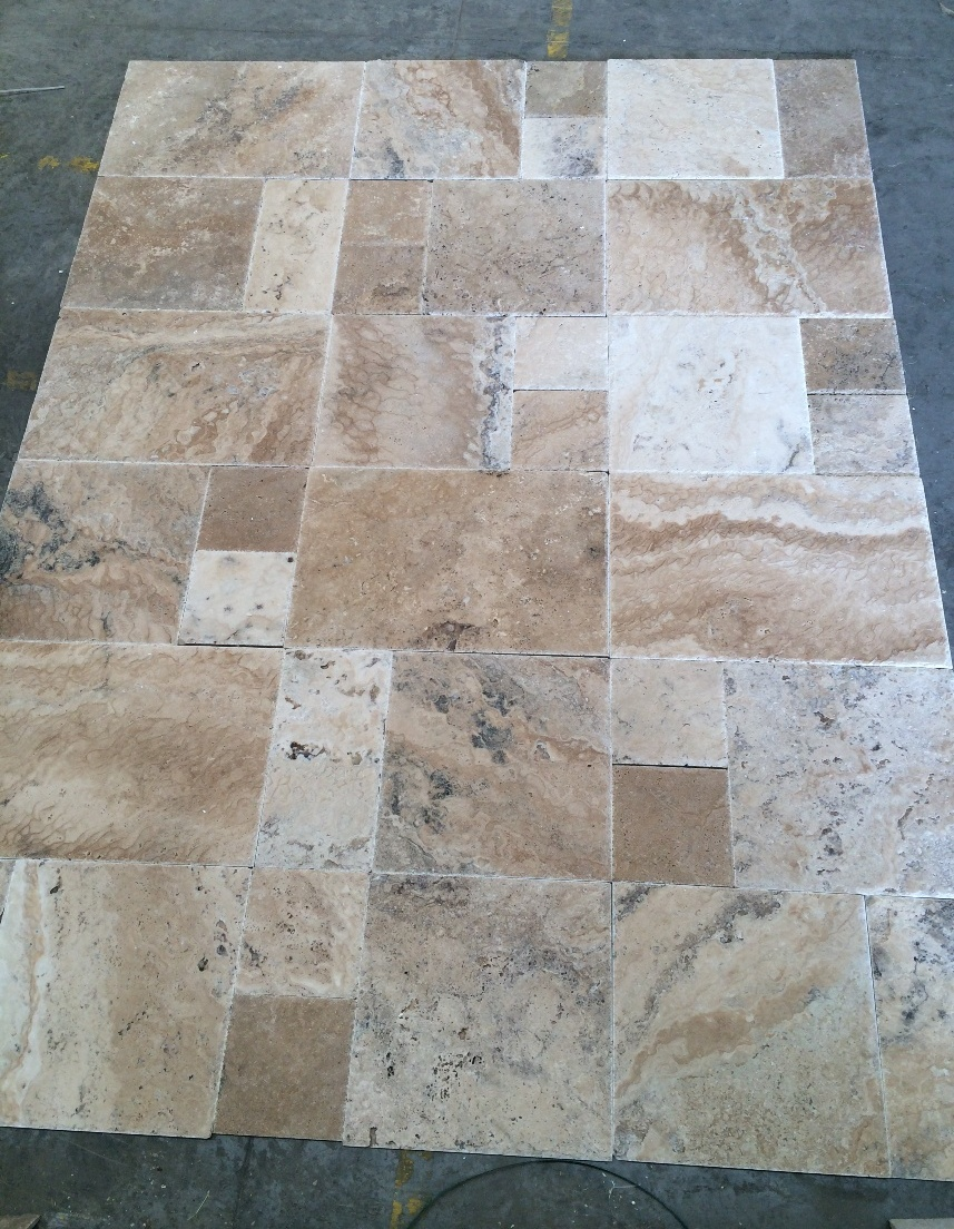 Philadelphia Travertine french pattern set