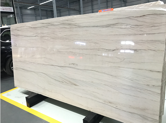 Piano Grey Polished Stone Slabs from China