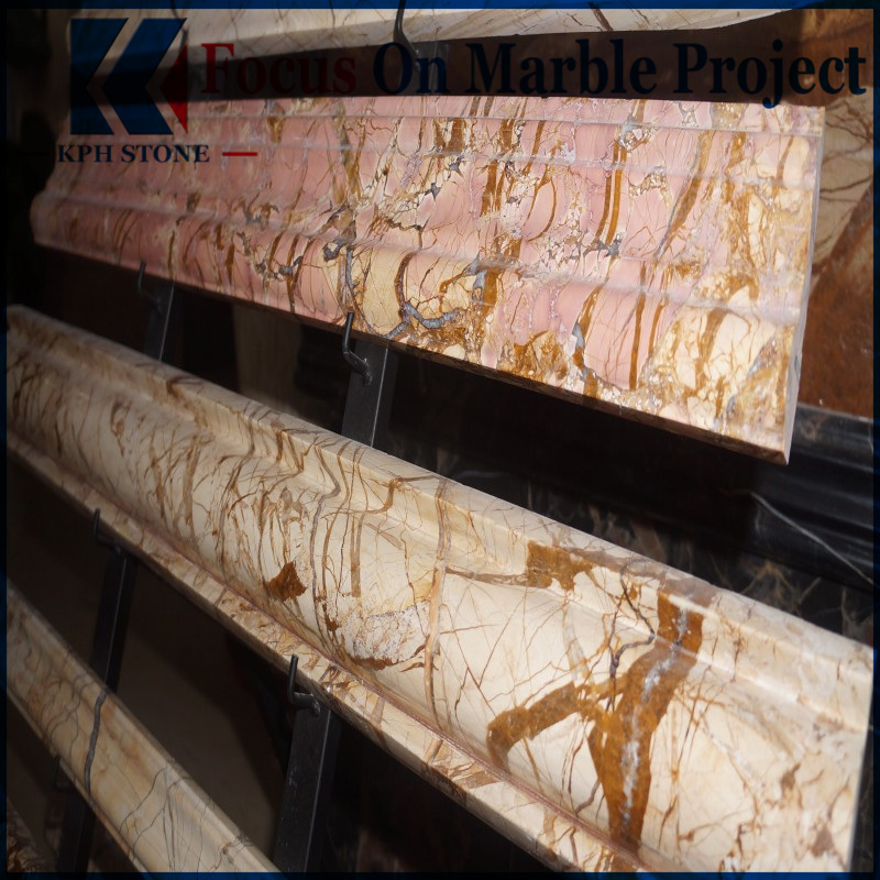 picasso gold marble skirting tiles