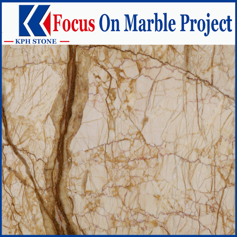 Picasso Gold Marble marble slab for Park MGM Las Vegas