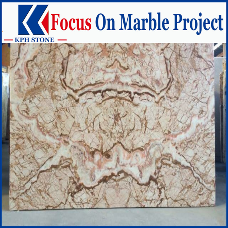 Golden Picasso Marble slabs for MGM Grand