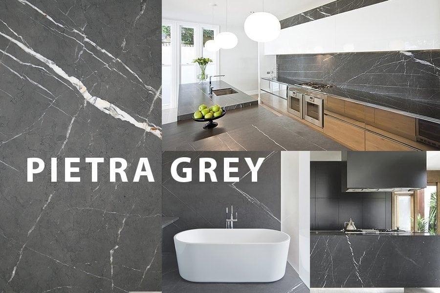 Pietra Grey Marble Countertops