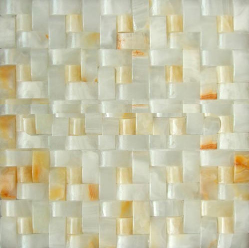 3D white onyx pin wheel series mosaic