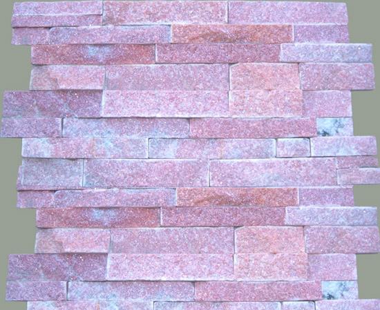 Pink quartzite stone