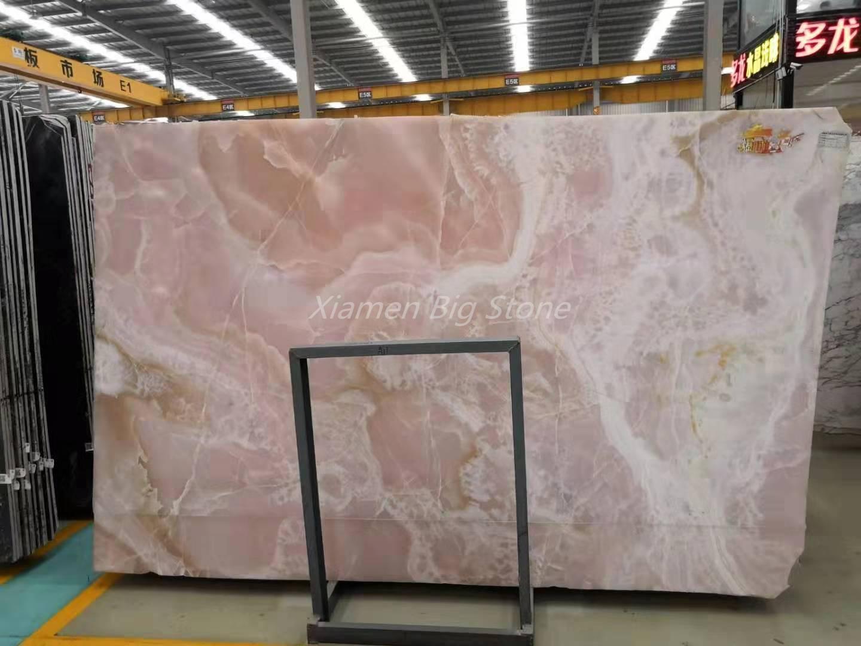 Polished Iran Pink Onyx Slab