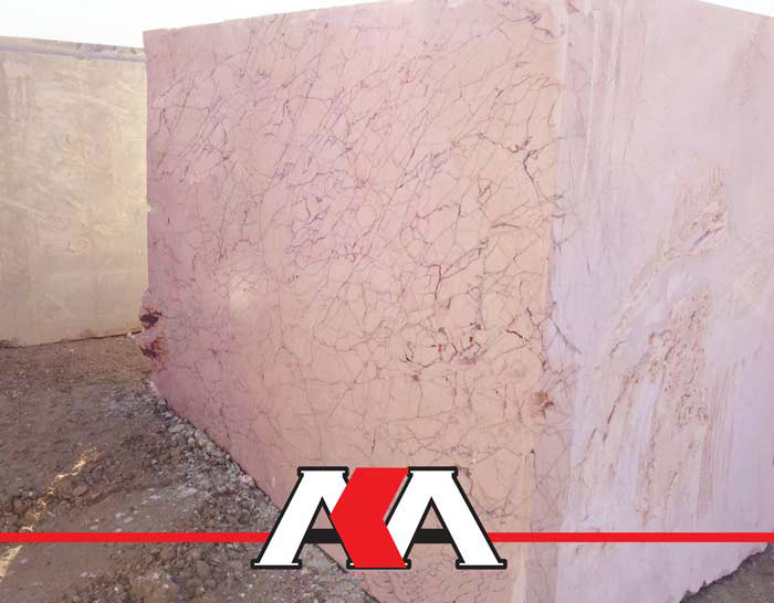 Pink Spider Marble Blocks