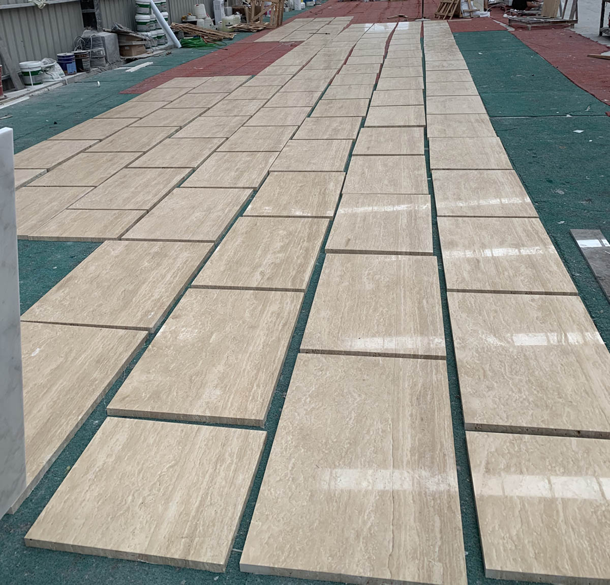 Polished Beige Travertine Tiles for Wall and Floor