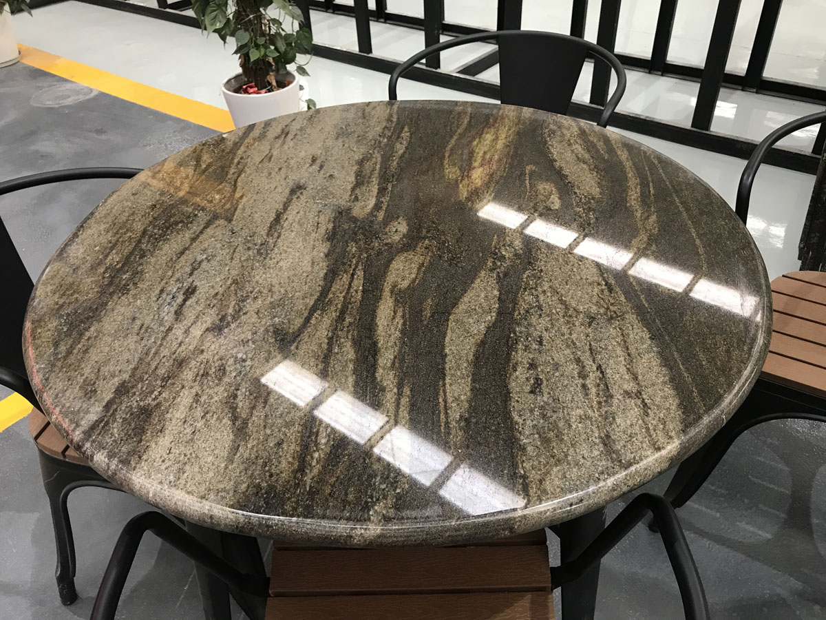 Polished Brown Granite Round Table Tops