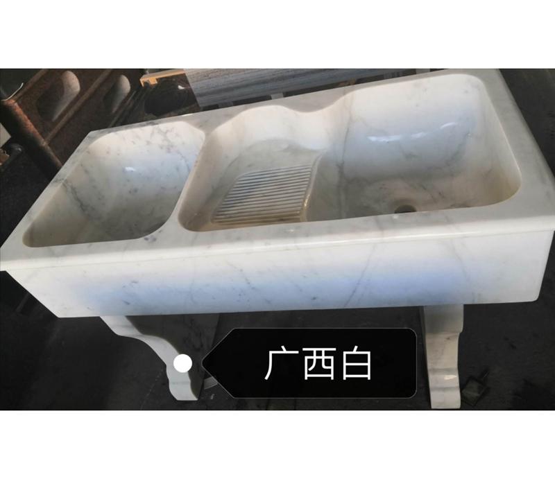 Polished White Marble Laundry Tub  White Marble Laundry Pool