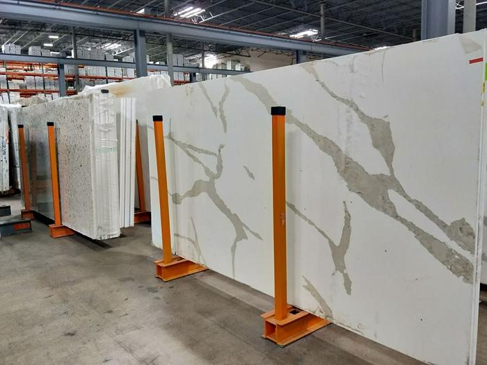 Showroom warehouseQuartz Stone slab rack