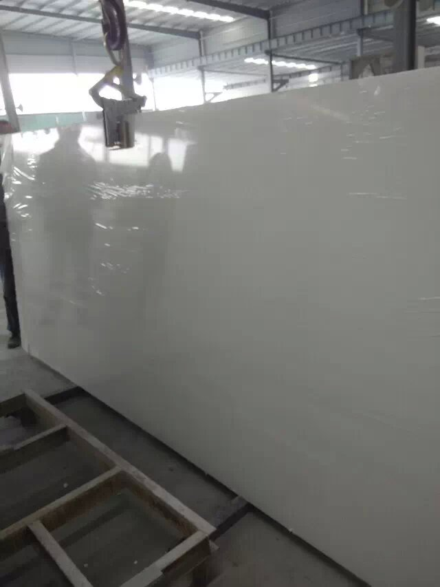 Pure white quartz stone slabs  tiles from China
