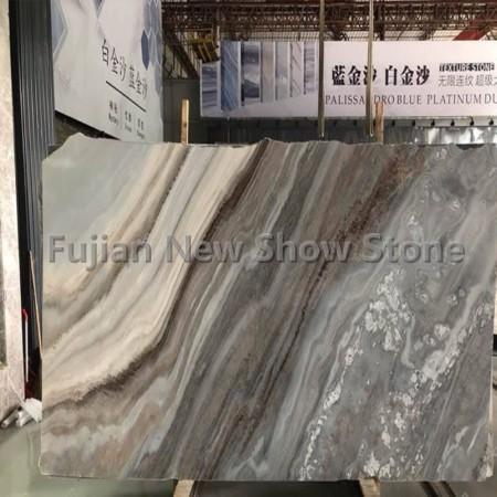 Purple landscape marble