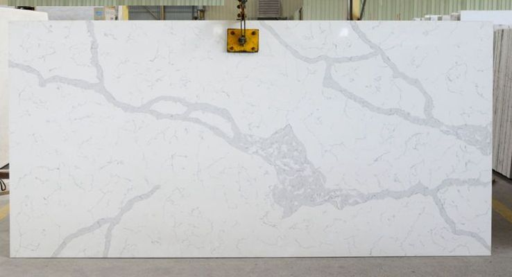Calacutta Manhattan quartz stone slab
