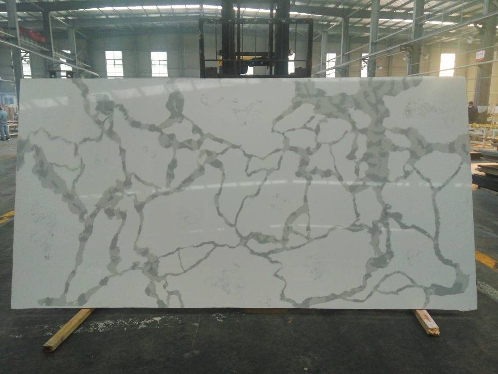 Calacatta whiter quartz slab