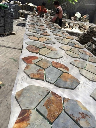 Natural Decorative slate mats flagstone