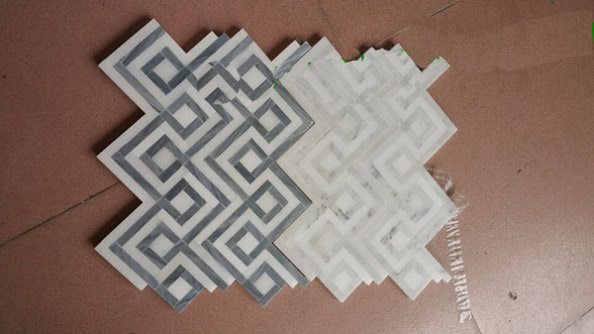 New design of white marble mosaic