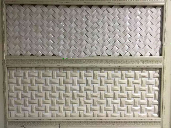 Beige marble 3D mosaic for wall decoration