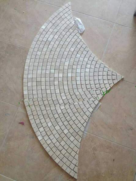 Fan Shape marble mosaic