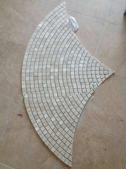 Marble mosaic tile for wall deroration