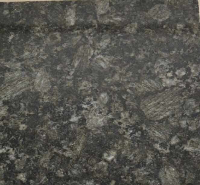 Dark green butterfly polished granite