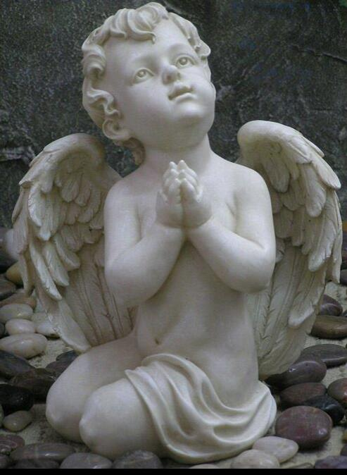 angel white marble sculpture