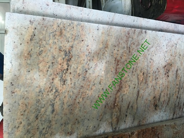 New Kashmir Gold granite saw cut
