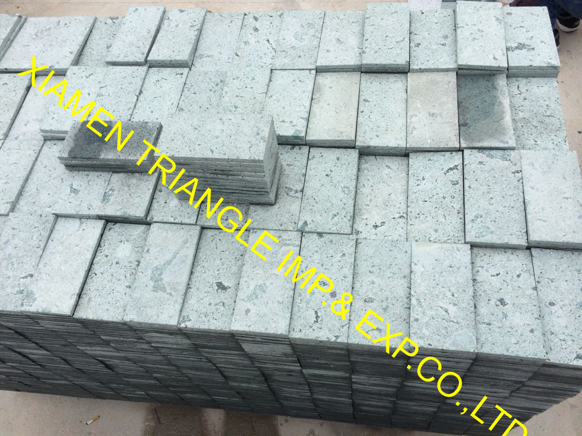 10x20cm sawn China Green Sukabumi Stone