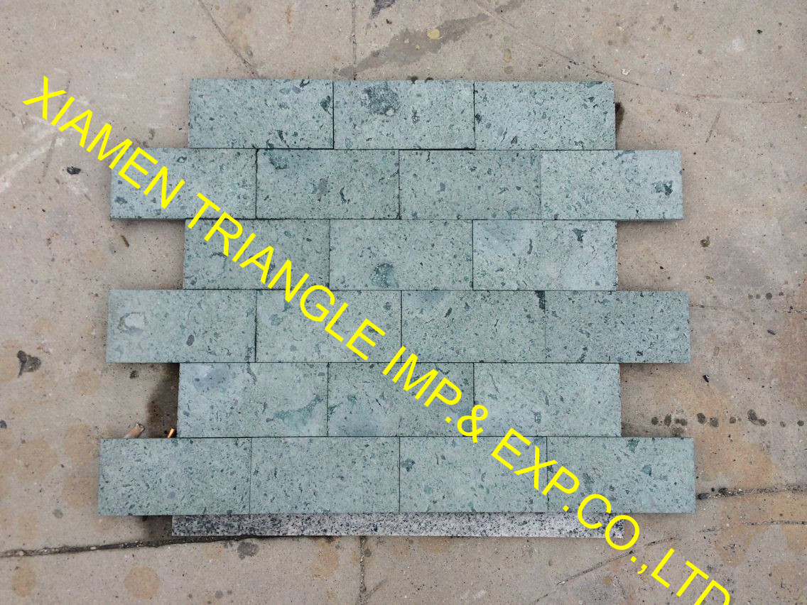 10x10cm Sawn China Green Sukabumi Swimming Pool Stone