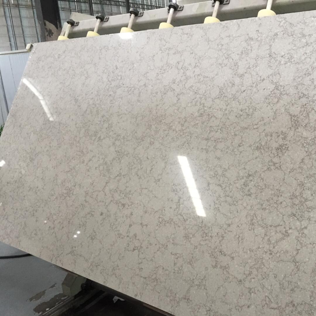 Quartz Stone Bs3301 Botticino from Guangdong China Solid Surfaces Polished Slabs & Tiles Engineered Stone for Hotel