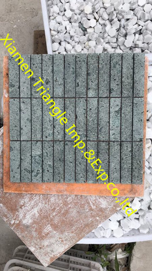 Rectangle Sawn China Sukabumi Green Mosaic