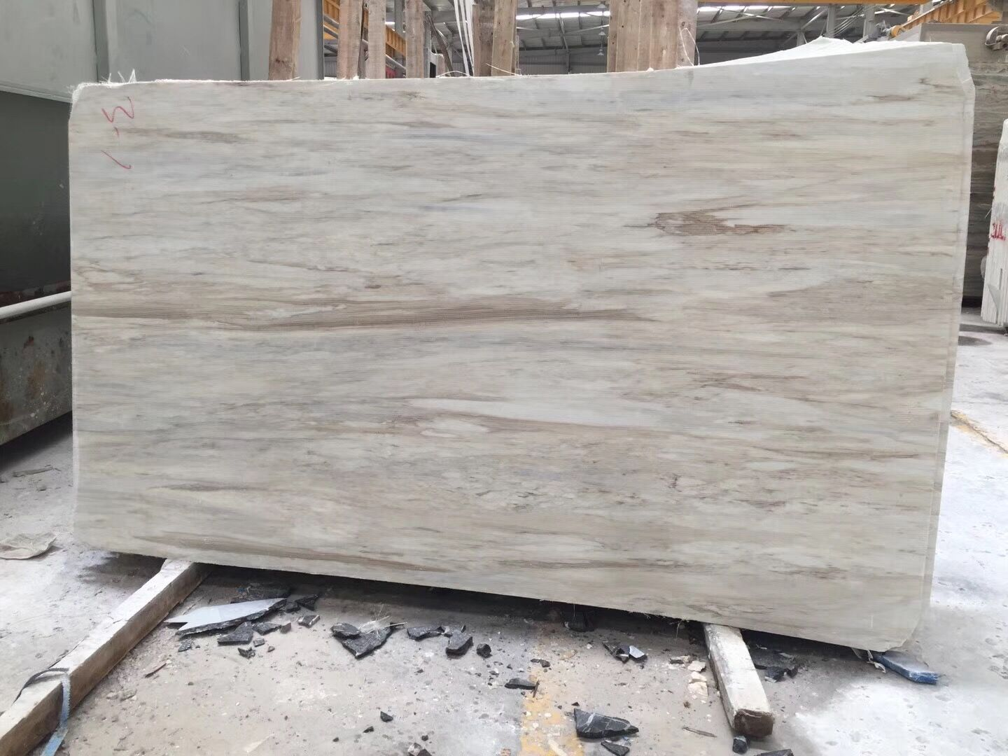 Wooden Vein Marble White Marble Slabs& Tiles Polished Flooring Tiles