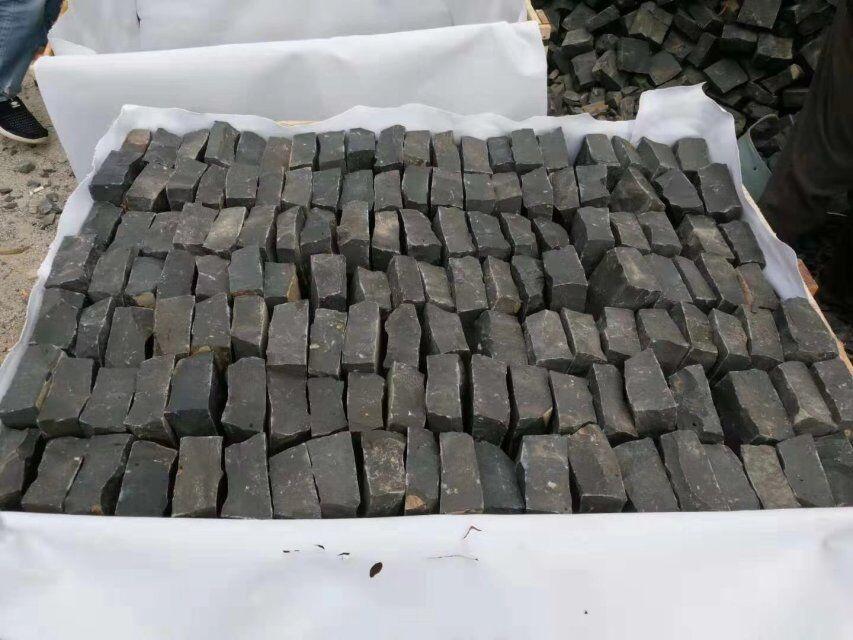 Black basalt tiles