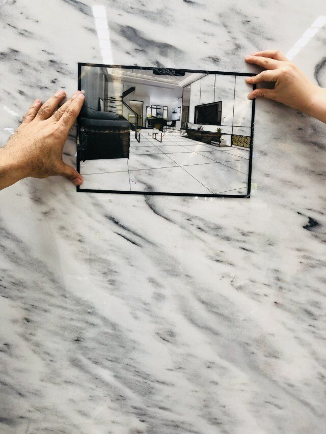 Tesla grey marble slab