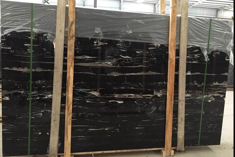 Black China Silver Dragon Marble Slab For Project