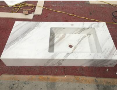 Volakas Bathroom Kitchen Washing Marble White Sink
