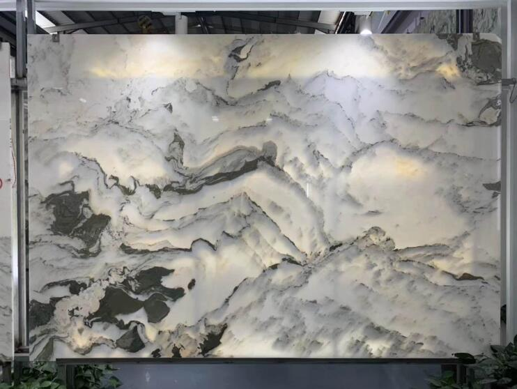 Luxury Stone Marble Landscape Painting For Background Wall Design