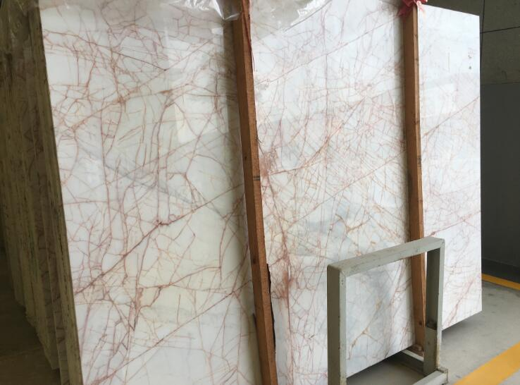 Onyx Marble With Red Veins White Jade
