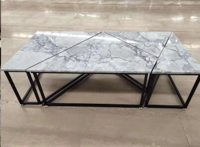 Super White Marble Dinning Coffee Table Tops Set