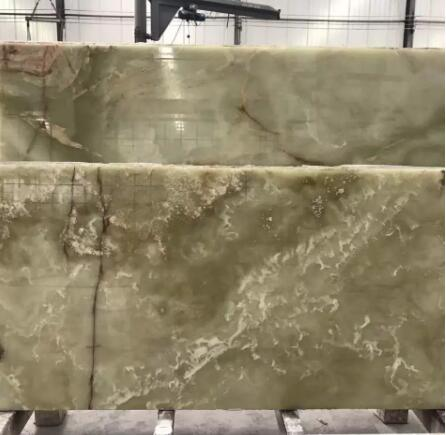 Green Jade Onyx Marble Tiles And Slabs Suitable For Worktop TV Background Wall Design