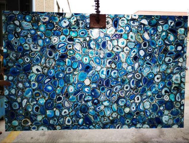 Blue Agate Countertop Stone Slabs