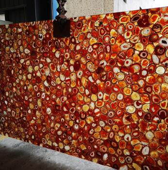 Stone Chips Red Agate Slab