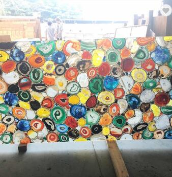 Colorful Wall Tile Agate Slab