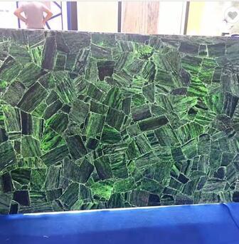 Clinozoisite Dark Green Raw Agate Slab
