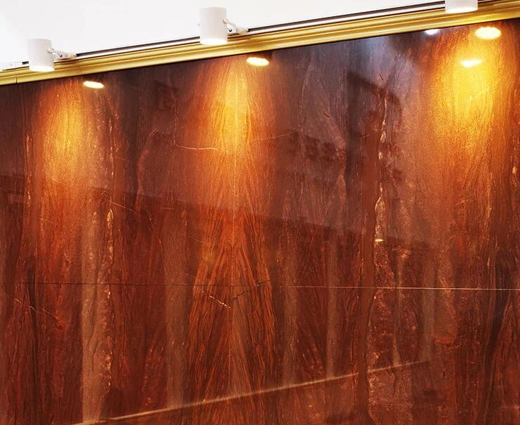Red Wood Vein Marble For Kitchen Worktop And Bathroom Flooring Tile