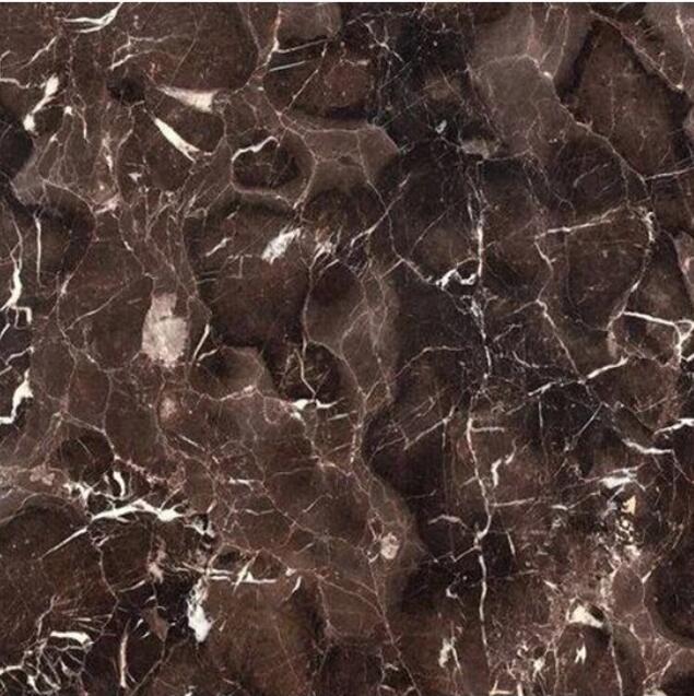 Natural Stone Brown Coffee Color China Marron Emperador Marble Slab
