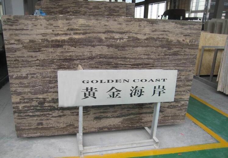 China Dark Rainforest Brown Golden Coast Marble