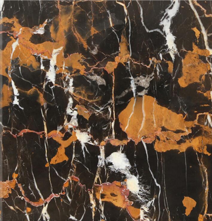 Matt Nero Silky Black Stone Portoro Marble Tile