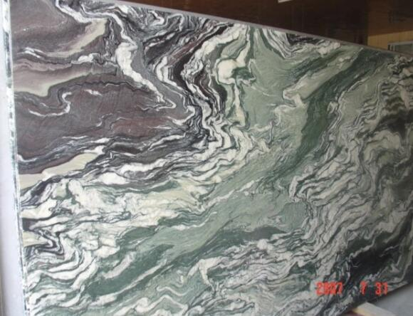 Chinese Landscape Green Marble Slabs