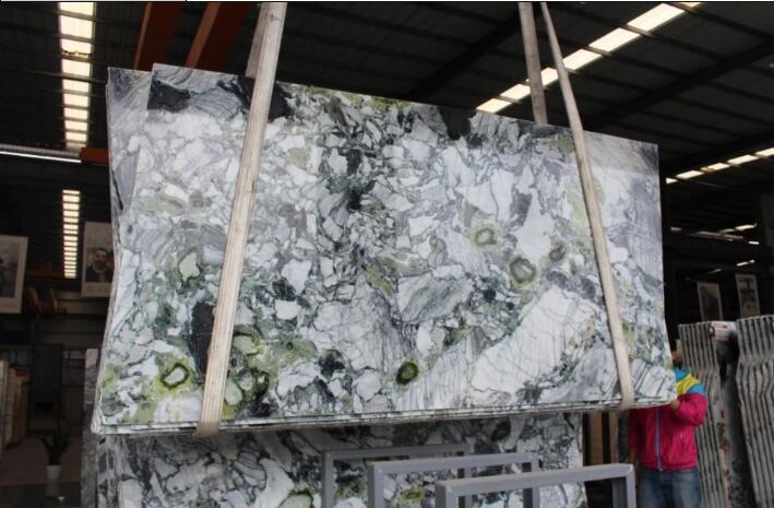 Indoor Floor Ice Emerald Green Vein Marble